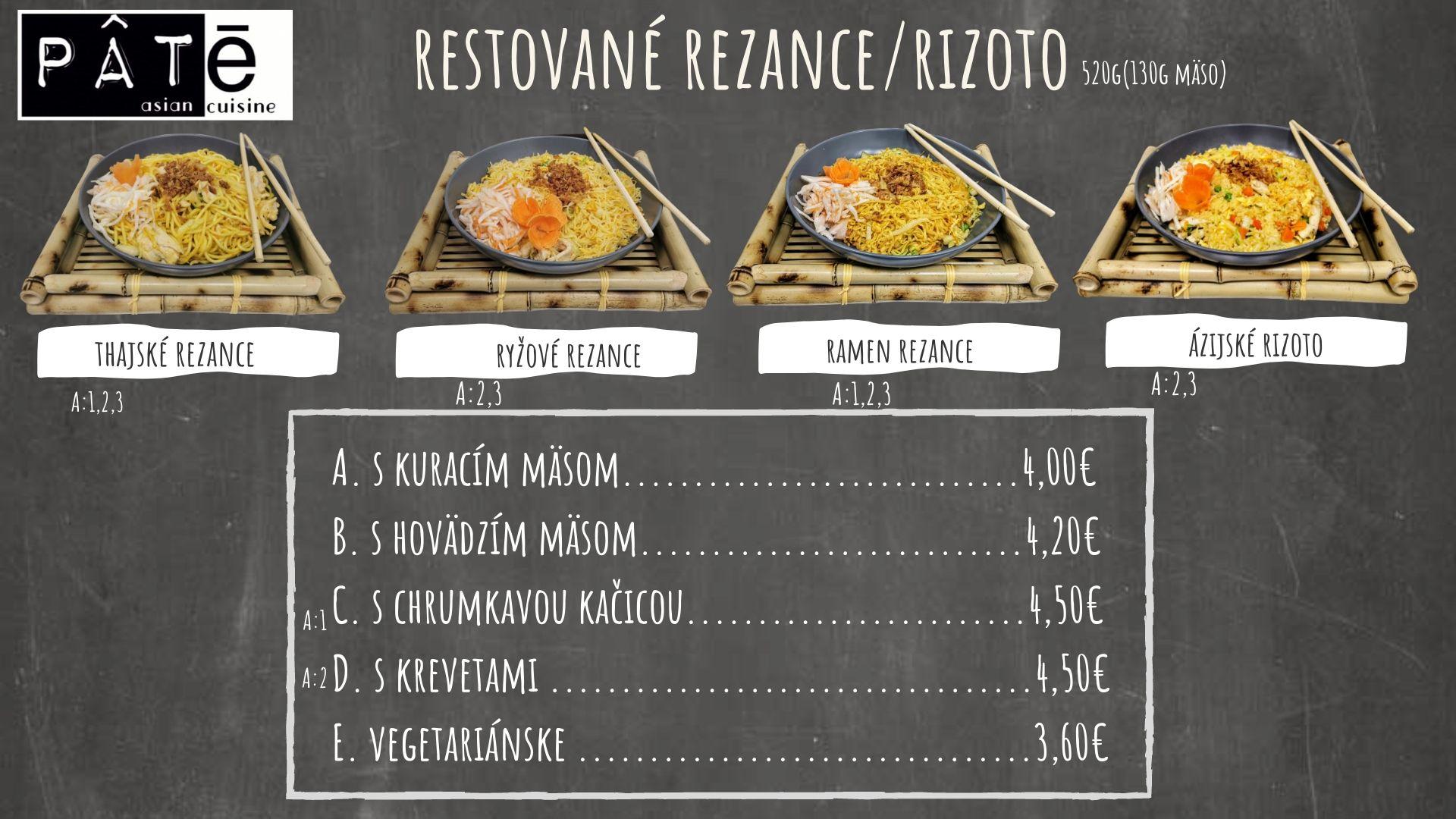 Restované rezance a rizoto