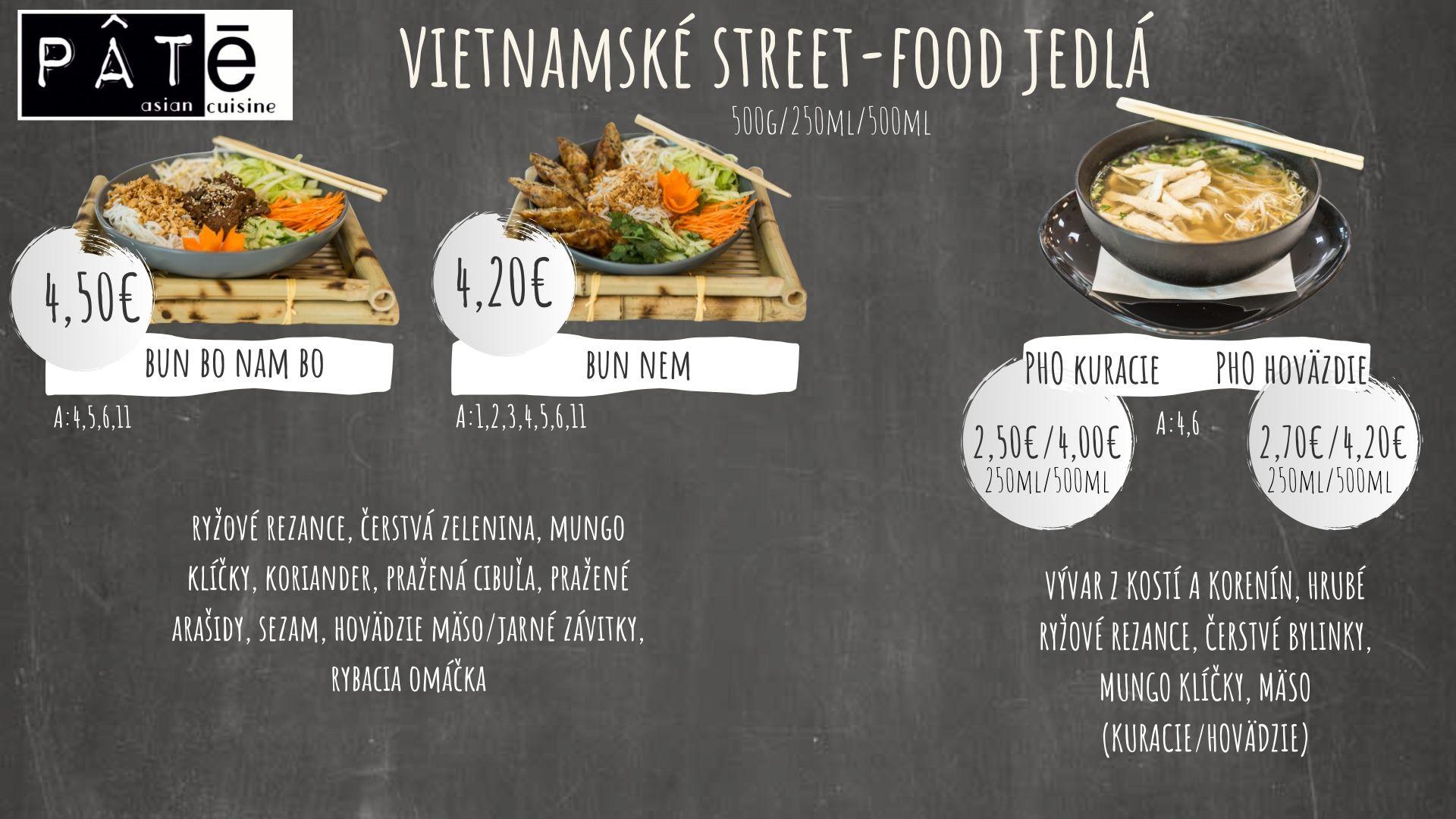 Vietnamské street-food jedlá
